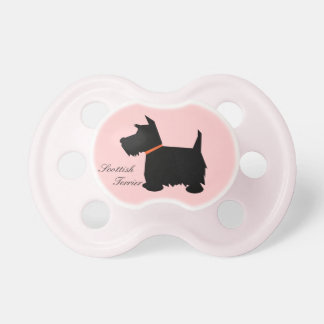 Scottish Terrier dog silhouette custom soother Pacifier