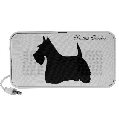 Scottish Terrier dog silhouette doodle speakers