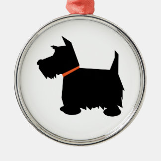 Scottish Terrier dog silhouette hanging ornament