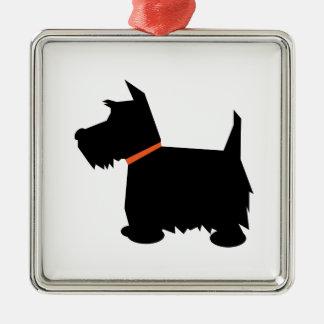 Scottish Terrier dog silhouette hanging ornament