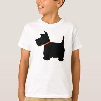 Scottish Terrier dog silhouette kids t-shirt