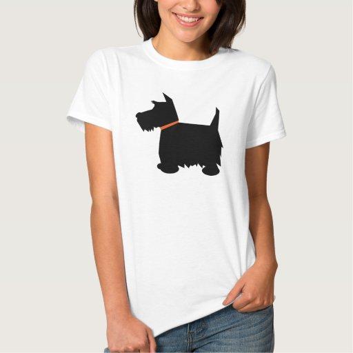 Scottish Terrier dog silhouette ladies t-shirt