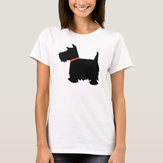 Scottish Terrier dog silhouette ladies t-shirt