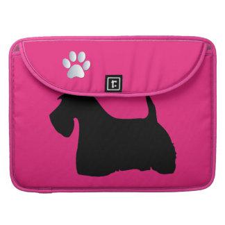 Scottish Terrier dog silhouette macbook air sleeve Sleeve For MacBooks
