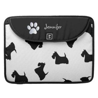 Scottish Terrier dog silhouette macbook air sleeve Sleeves For MacBook Pro
