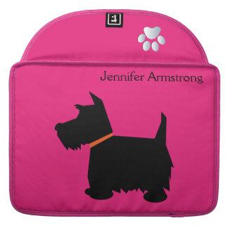Scottish Terrier dog silhouette macbook air sleeve MacBook Pro Sleeves
