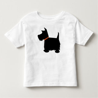 Scottish Terrier dog silhouette toddlers t-shirt
