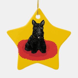 Scottish Terrier Dog Star Ornament
