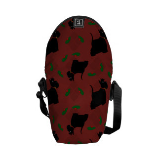 Scottish Terrier Dogs and Tam O'Shanter Courier Bag