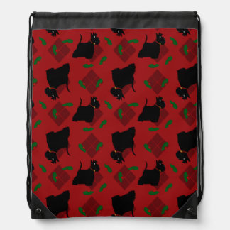 Scottish Terrier Dogs and Tam O'Shanter Drawstring Bag