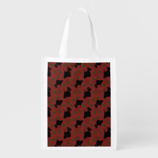 Scottish Terrier Dogs and Tam O'Shanter Grocery Bag