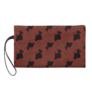 Scottish Terrier Dogs and Tam O'Shanter Wristlet Purse