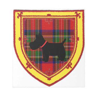 Scottish Terrier Emblem v6 Note Pads
