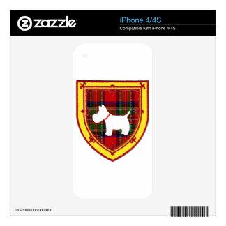 Scottish Terrier Emblem v7 Decals For iPhone 4