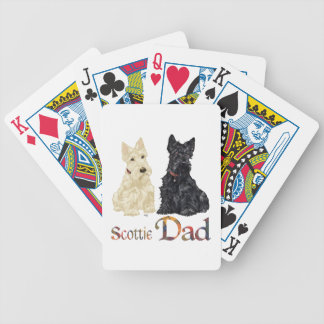 Scottish Terrier Father's Day Bicycle Playing Cards