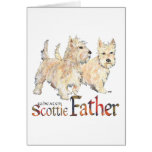 Scottish Terrier Father's Day Card