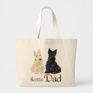 Scottish Terrier Father's Day Large Tote Bag