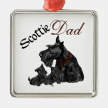 Scottish Terrier Father's Day Christmas Tree Ornaments