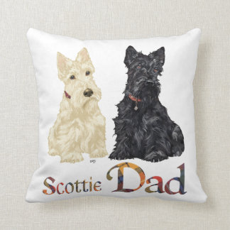 Scottish Terrier Father's Day Throw Pillow