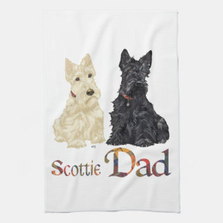 Scottish Terrier Father's Day Towel