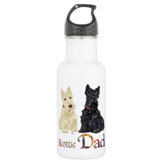 Scottish Terrier Father's Day Water Bottle