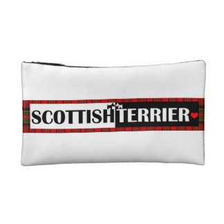 Scottish Terrier Fun Prints Cosmetic Bags