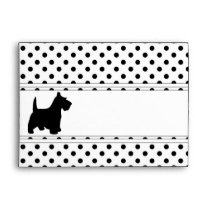 Scottish Terrier Fun Scottie Dog Black and White Envelope