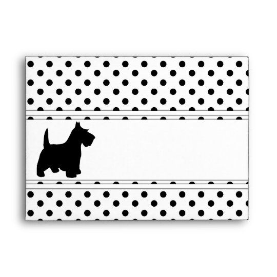 Scottish Terrier Fun Scottie Dog Black and White Envelope