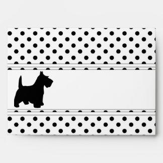 Scottish Terrier Fun Scottie Dots Black and White Envelopes