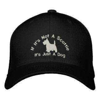 Scottish Terrier Funny Dog Slogan Embroidered Baseball Hat