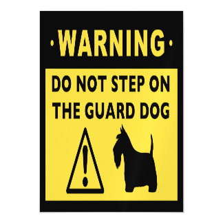 Scottish Terrier Funny Guard Dog Warning Magnetic Card