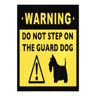 Scottish Terrier Funny Guard Dog Warning Magnetic Card