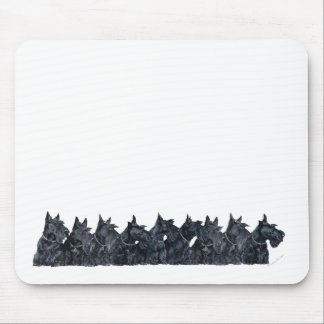 Scottish Terrier Gathering Mouse Pad
