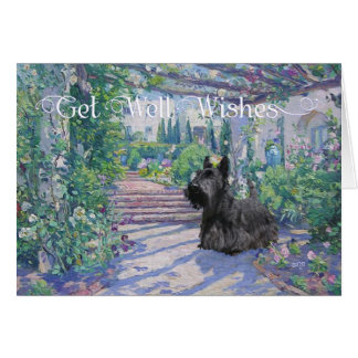 Scottish Terrier Get Well Wishes Greeting Card