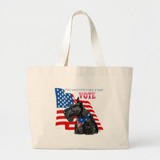 Scottish Terrier Getting out the VOTE Canvas Bag