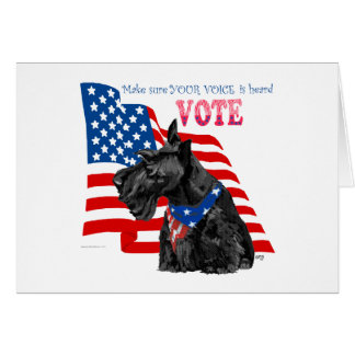 Scottish Terrier Getting out the VOTE Greeting Cards