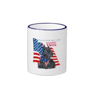 Scottish Terrier Getting out the VOTE Coffee Mugs