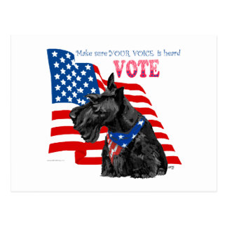 Scottish Terrier Getting out the VOTE Postcard