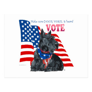 Scottish Terrier Getting out the VOTE Postcards