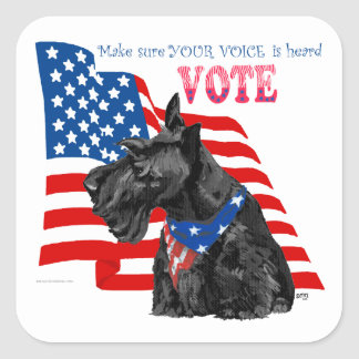 Scottish Terrier Getting out the VOTE Stickers