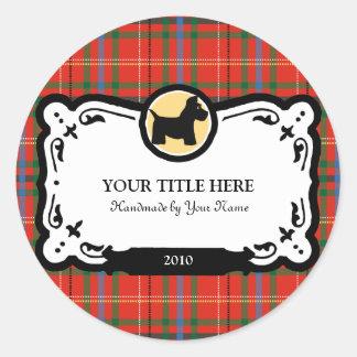 Scottish Terrier Gift Labels Round Stickers