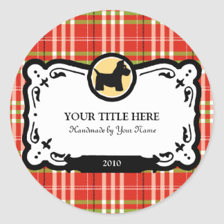 Scottish Terrier Gift Labels Stickers