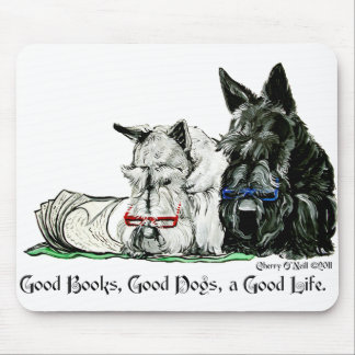 Scottish Terrier Good Life Mouse Pads