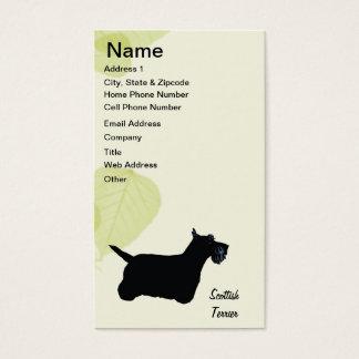 Scottish Terrier ~ Green Leaves Design Business Card