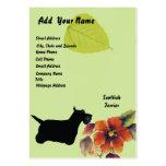 Scottish Terrier ~ Green Leaves Design Business Cards