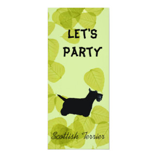 Scottish Terrier ~ Green Leaves Design Card