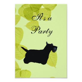 Scottish Terrier Green Leaves Design Card