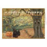 Scottish Terrier Halloween Card