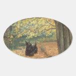 Scottish Terrier Halloween Oval Sticker