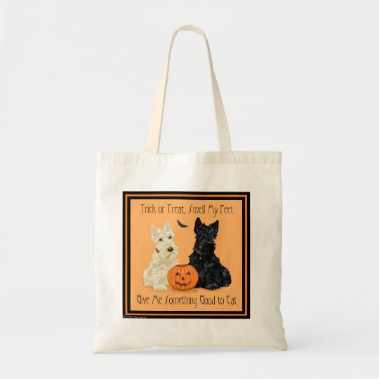 Scottish Terrier Halloween Tote
